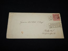 Germany Norddeutscher 1870 Warsleben Stationery Envelope To Halle__(L-12594) - Norddeutscher Postbezirk