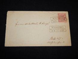Germany Norddeutscher 1870 Warsleben Stationery Envelope To Halle__(L-12826) - Norddeutscher Postbezirk