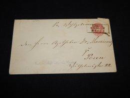Germany Prussia 1800's 1g Red Stationery Envelope__(L-12783) - Preussen