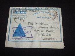 India 1945 Aerogramme To UK__(L-13881) - India