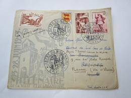 EPINAL  23 28 Juin 1953 Millenaire De La Ville Et De La Basilique 18_13 - Postmark Collection (Covers)