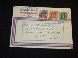 India 1977 Aerogramme To USA__(L-13327) - India