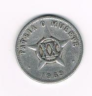 &   CUBA  XX CENTAVOS   1969 - Cuba