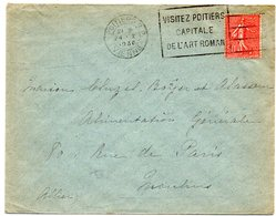 VIENNE - Dépt N° 86 = POITIERS RP 1930 = FLAMME Longueur 37 Mm =  FLIER ' VISITEZ / CAPITALE / ART ROMAN ' - Marcophilie (Lettres)