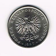 &  POLEN  20 ZLOTYCH  1987 - Pologne