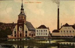 Basse-Wavre - L'Eglise (Imp. Pap. Charlier, 1910, Colorisée) - Wavre