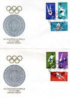 """DDR 2 Schmuck-FDC Mi 1404/09 """"Olympische Sommerspiele"""", ESSt BERLIN 18.9.1968 - Summer 1968: Mexico City"""