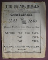 2 Numeros - THE UGANDA HERALD - October 26th And November 2nd 1928 - Vol XXX - N°844-845 - Travel/ Exploration