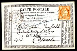 CHATEAUNEUF EN THYMERAIS - Carte Précurseur écrite En 1875 - Châteauneuf