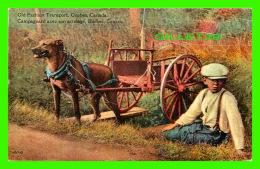 AGRICULTURE, ATTELAGES DE CHIEN - CAMPAGNARD AVEC SON ATTELAGE, QUÉBEC -  THE POST CARD & GREETING CARD CO LTD - - Attelages