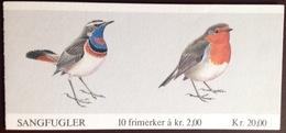 Norway 1982 Birds Stamp Booklet Complete Unused - Vogels