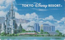 Télécarte NEUVE Japon / 110-211397 - DISNEY RESORT - Château Train Castle - Japan MINT Phonecard - Disney
