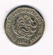 &  PERU  50  CENTIMOS  1991 - Pérou