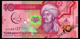 TURKMENISTAN 10 MANAT 2017 Pick 38 Unc - Turkmenistan