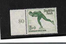 III-Mi.Nr.600**/ (1935) Winter-Olympiade, Eisschnelläufer 6 + 4 - Deutschland