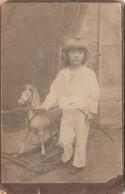 Mali Losinj Lussinpiccolo Cabinet Photo Lergetporer - Boy W Rocking Horse - Kroatien