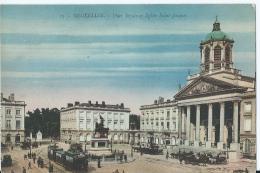 Bruxelles - Brussel - Place Royale Et Eglise Saint-Jacques - 13 - Editeur Henri Georges -1921 - Marktpleinen, Pleinen