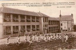 22.st Brieuc-preventorium De Saint Laurent Ecole De Plein Air.la Gymnastique Fillettes - Saint-Brieuc
