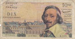 Billet 10 F Richelieu Du 1-9-1960 FAY 57.10 Alph. K.115 - 1959-1966 Franchi Nuovi
