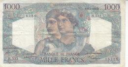 Billet 1000 F Minerve & Hercule Du 17-2-1949 FAY 41.25 Alph. H.533 - 1871-1952 Anciens Francs Circulés Au XXème