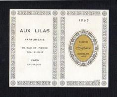 """1965 Calendrier De Poche Parfumé / Parfum  """"Espace"""" De Cheramy / Parfumerie """"Aux Lilas"""" Rue St Pierre Caen 14 - Calendars"""