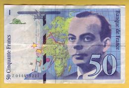 BILLET FRANCAIS - 50 Francs Saint Exupéry 1997 TTB+ - 1992-2000 Last Series