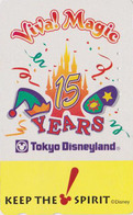 Rare Télécarte Japon / 110-016 - DISNEY - DISNEYLAND 15 Years * VIVA MAGIC * Japan Phonecard - Disney