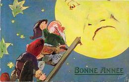 CPA Gnomes Lutin Nain Gnome Non Circulé Oilette Tuck's Lune - Fairy Tales, Popular Stories & Legends