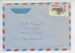 ZIMBABWE - Lettera Per Olanda - Trasporti - Zimbabwe (1980-...)