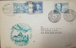 L) 1948 BRAZIL, PANTOGRAPH MUSIC CANCELATION, PRES. EURICO GASPAR DUTRA, SCOTT A245, 1.20CR DEEP BLUE, AIRMAIL, CIRCULAT - Brazil