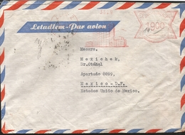 M) 1847 CZECHOSLOVAKIA, AIR MAIL, BUILDING STAMP, CIRCULATED COVER FROM CZECHOSLOVAKIA TO MEXICO. - Czechoslovakia