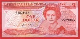 EAST  CARIBBEAN - 1 Dollar De 1985 - Pick 17a - UNC - Caraïbes Orientales