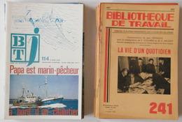 Lot De 27 Revues - Bibliothèque De Travail - Métiers, Industrie - 1949 à 1977 - 23 X 15,5 Cm - Boeken, Tijdschriften, Stripverhalen