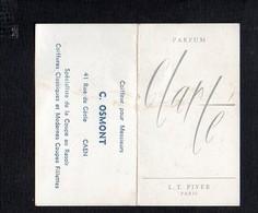 """1967 Calendrier De Poche Parfumé / Parfum  """"Clarté """" De L.T.Piver / Coiffeur """"C.Osmont """" Rue De Géole Caen 14 - Calendars"""