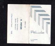 """1972 Calendrier De Poche Parfumé / Parfum  """"Prélude """" De L.T.Piver / Coiffeur Parfumeur """"H.Potier """" Vire 14 - Calendars"""