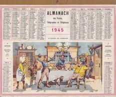 Calendrier Almanach 1945 Illustré Felix Jobbe Duval Le Souper Des Chasseurs Top Rare - Tamaño Grande : 1941-60