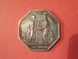 RARE MÉDAILLE (1799/1800) An VIII ARGENT 25.39 Gr. BANQUE DE FRANCE LA SAGESSE FIXE LA FORTUNE Graveur DUMAREST - Other
