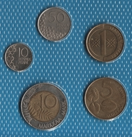FINLAND LOT COINS 5 MONNAIES 1991-1996 - Finland