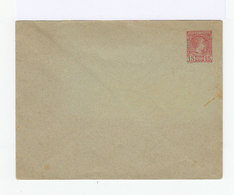 Monaco Entier Postal Type Charles III 15 C. Rose Carmin 1890 Enveloppe Format 147X112 Sans Date - Entiers Postaux