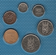 NEDERLAND LOT COINS 6 MONNAIES 1967-1988 - Netherlands
