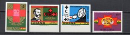 GHANA  N° 366 à 369  NON DENTELES  NEUFS SANS CHARNIERE COTE ? €  CROIX ROUGE - Ghana (1957-...)