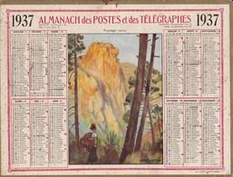 Calendrier Almanach 1937 Des Postes Et Des Telegraphes Paysage Corse Illustré Daniel Labouré - Big : 1941-60