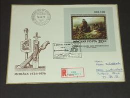 UNGARN HUNGARY 27.8.1976 (Block 120A): 450. Jahrestag Der Schlacht Bei Mohacs - FDC
