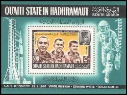 Aden - 1026 Qu'ati State In Hadhramaut  Bloc N° 16 A Apollo 4  Espace (space) Astronauts Grissom - White - Cape Kennedy - Space