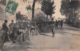 ¤¤  -  CHALONS    -   Une Halte Du Bataillon Cycliste   -  Militaires      -  ¤¤ - Châlons-sur-Marne