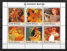 "GUINEA - BISSAU  2003 Alfons Maria Mucha ""Art Nouveau"" - Modernos"