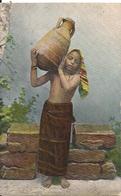 Egypte Fille Fellahin à La Fontaine - Egypte