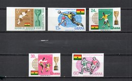 GHANA  N° 248 à 252 NON DENTELES  NEUFS SANS CHARNIERE COTE ? €  FOOTBALL - Ghana (1957-...)