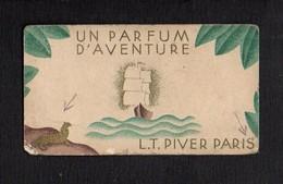 """1932 1933 Calendrier De Poche Parfumé / Parfum  """"Un Parfum D'Aventure """" De L.T.Piver (voir état ) - Calendari"""