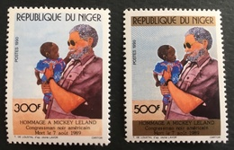 Niger 1990 U.S. Congressman Micky Leland Postage Fee To Be Added On All Items - Niger (1960-...)